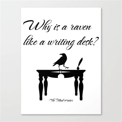 why is a like a writing desk in why is a like a writing desk