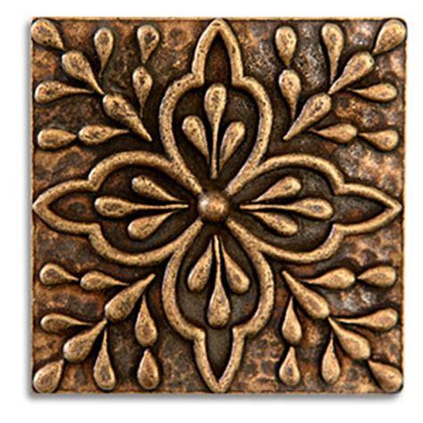 2x2 Metal Accent Tiles donatella 2x2 inch pewter tile aged brass metal tile