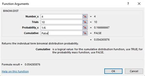excel worksheet functions for binomial distribution dummies