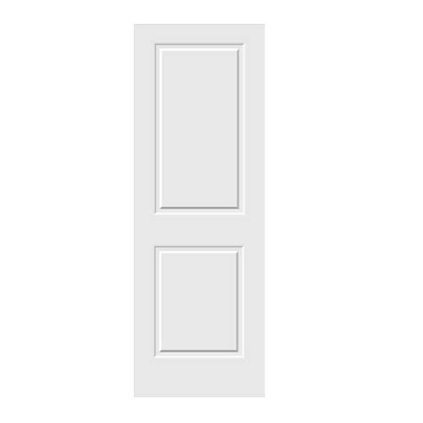 doors home depot interior jeld wen 28 in x 80 in c2020 primed 2 panel solid premium composite single slab interior