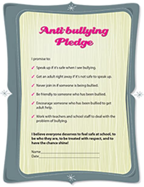 How To Stop Bullying At School Girlshealth Gov Anti Bullying Contract Template