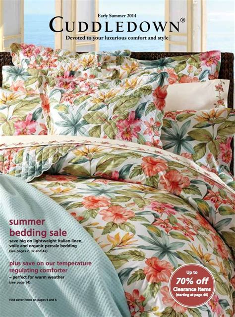 cuddledown comforter 23 best images about cuddledown catalog covers on