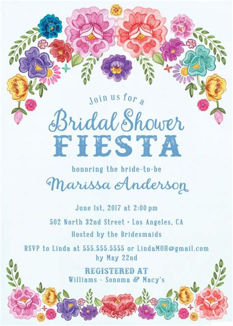 floral wedding invitation diy pink flowers and cactus mexican fiesta theme floral bridal shower invitations
