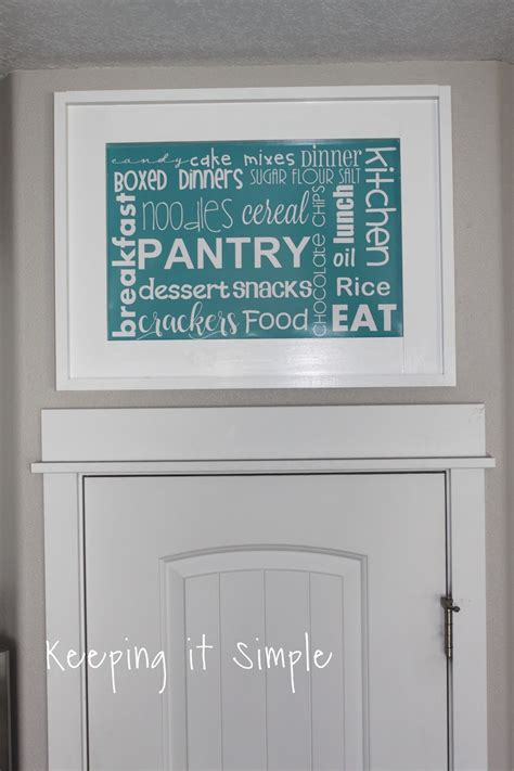 keeping it simple diy kitchen pantry sign with subway