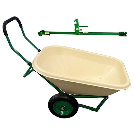 true temper 8 cu ft poly wheelbarrow with dual wheels