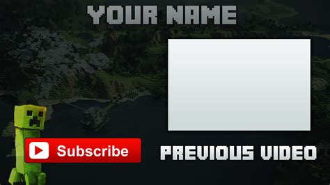 minecraft outro template download by iblyzz on deviantart