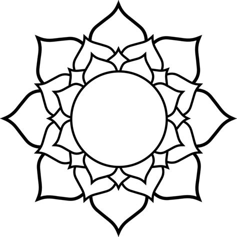 Five Lines On Lotus Flower Lotus Flower Line Drawing Cliparts Co