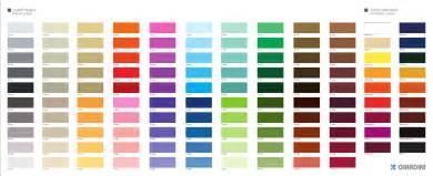 color photo color chart giardini