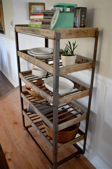 Etagere Industrielle Bois Metal 1185 by Industrial Shelving For Bread Antique In Metal And Wood