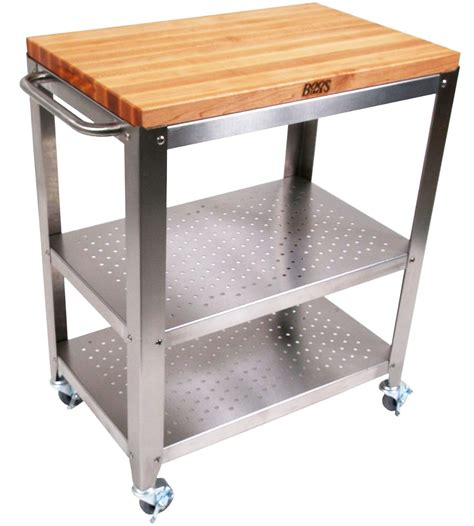 Kitchen Islands And Carts Outdoor Kitchen Cart With Wood Top In Kitchen Island Carts
