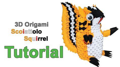 3d Origami Squirrel - origami 3d squirrel tutorial 1 32 origami 3d scoiattolo