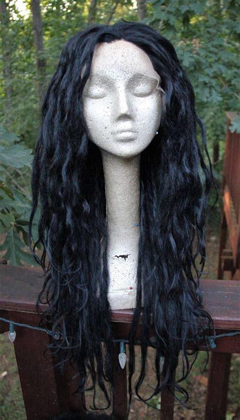 lace front dreadlocks jet black lace front synthetic dreadlock wig custom dread