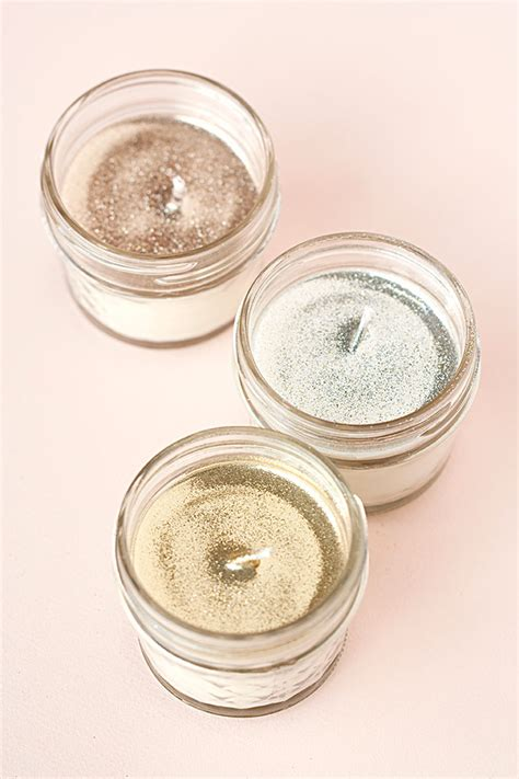 Are Gold Candles Made Of Soy diy glitter soy candles inspiration
