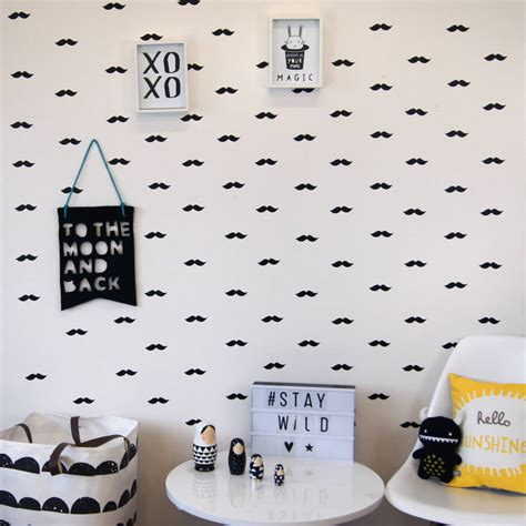 mustache wall stickers flying moustache wall stickers by parkins