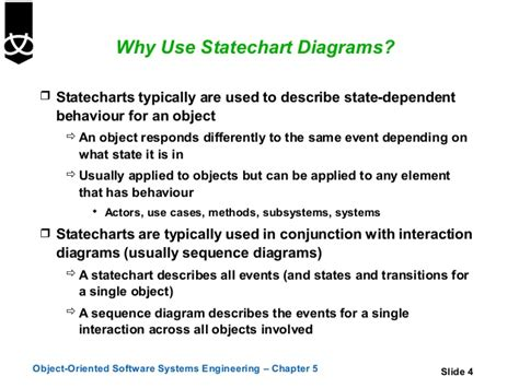 why we use sequence diagram 5 state diagrams