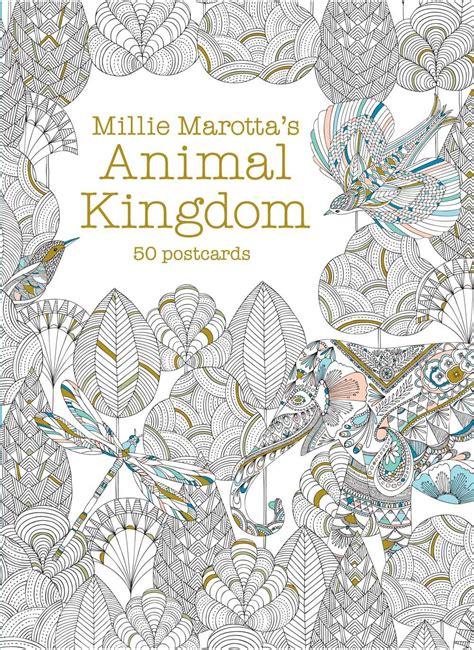 millie marottas animal kingdom 184994167x 92 animal kingdom coloring book pages amazon millie marottas animal kingdom postcard box