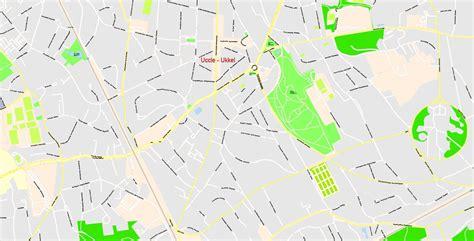 printable map brussels printable map brussels belgium g view level 17 ai 10 ai pdf 16