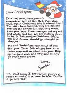 Charity Letter From Father Christmas Santa And Mrs Claus Letters Operation Christmas