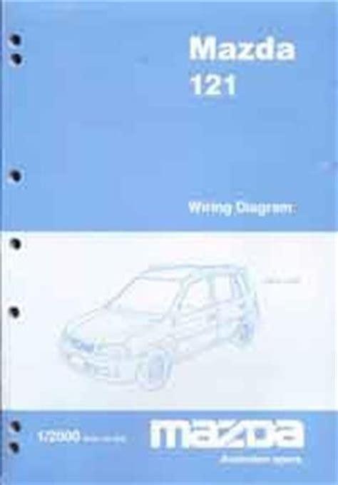 mazda 121 metro workshop manual mazda 121 dw wiring diagrams 01 2000 on factory manual