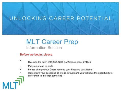 Mlt Mba Prep Program by Mlt Career Prep 2012 Info Session Recording