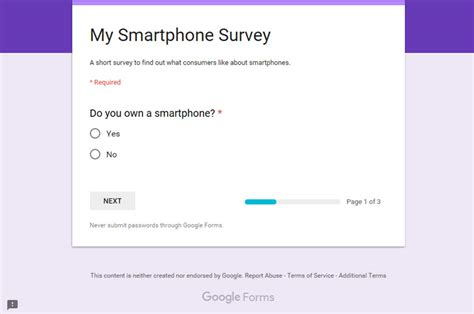 Google Questionnaire Design | how to make a survey with google docs forms