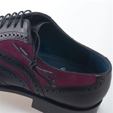 dress brogue wingtip mcclean black calf  purple