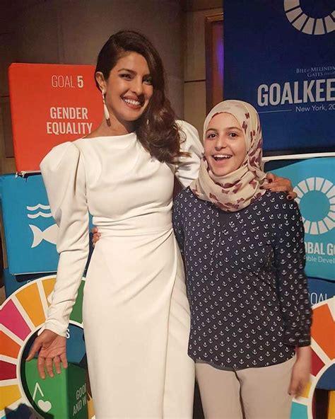 priyanka chopra charity work priyanka chopra at the un global goal awards
