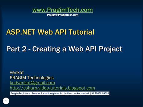 tutorial web project sql server net and c video tutorial creating a web api