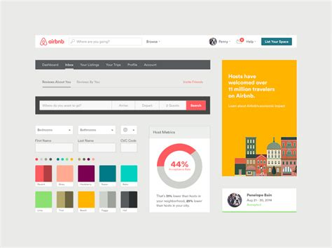 Airbnb Design Guidelines | airbnb ui toolkit web by derek bradley dribbble