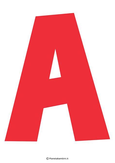 lettere dell alfabeto colorate e grandi da stare