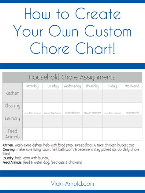 make my own calendar with pictures free how to create a custom chore chart simply vicki