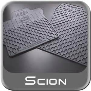 Scion Xb Floor Mats All Weather 2008 2012 Scion Xb Floor Mats Rubber All Weather Front