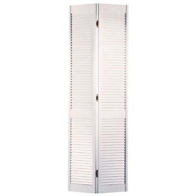 Louvered Bifold Closet Doors Sizes by Masonite 24 In X 80 In Smooth Louver Primed Pine