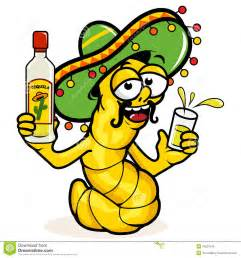 drunk tequila worm stock vector image 40237545