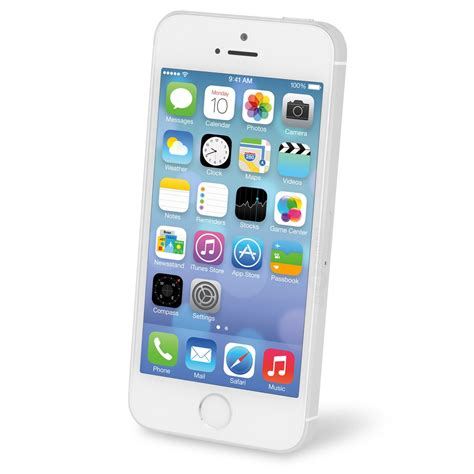 apple iphone 5s a1533 at t 16gb white silver refurbished a4c