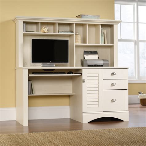 sauder harbor view computer desk with hutch harbor view computer desk with hutch 158034 sauder