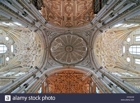 mezquita cathedral interior ribbed vaulted ceilings and