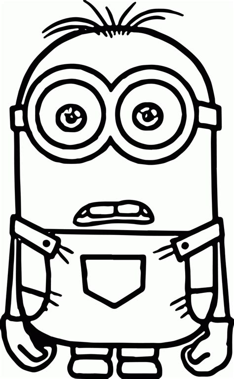 coloring pages of minion bob minions coloring pages bob coloring home