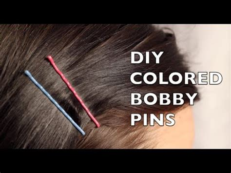 colored bobby pins how to make colored bobby pins