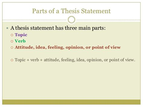 parts of a dissertation the anatomy of a thesis statement