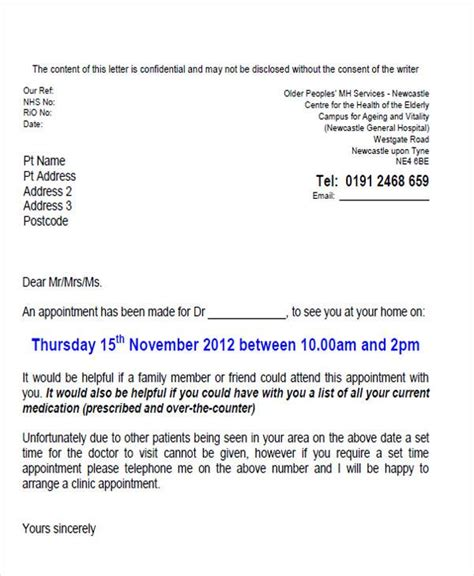 appointment letter format uk appointment letter format