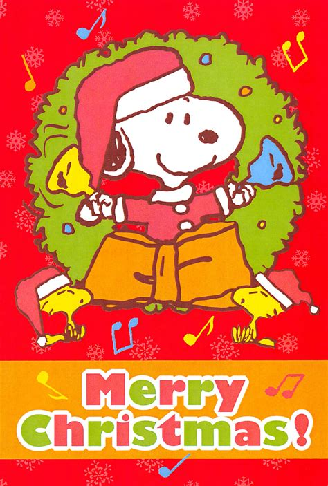 japan merry christmas  peanuts gang  snoopy postcard collection