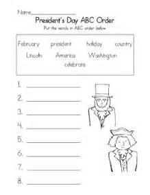 president s day abc order worksheet by teacher gone