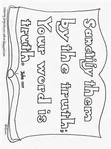 coloring pages for kids by mr adron your word is truth
