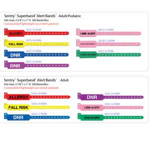 hospital color codes pdc color coded alert wristbands