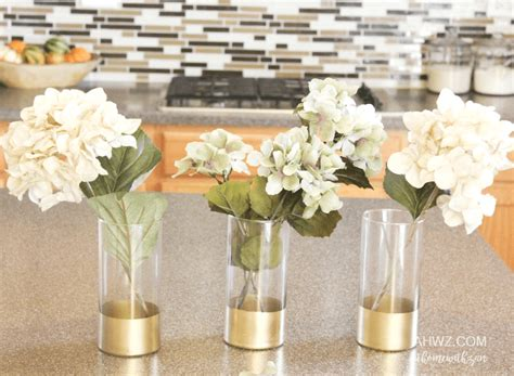 Gold Dipped Vases by Gold Dipped Vases At Home With Zan