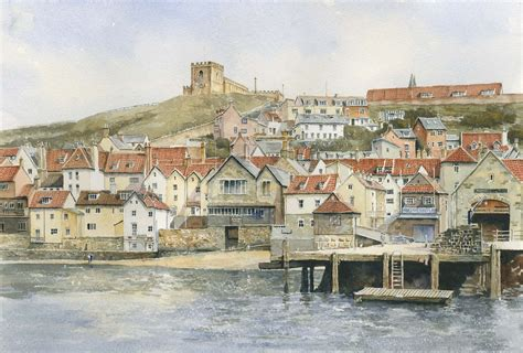 whitby cottages ukwatercolours