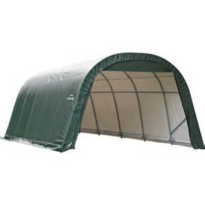 shelterlogic 12 ft w style instant garage 24ft l x