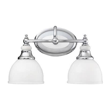 white bathroom light pocelona 2 light bath light in chrome