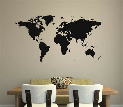 decals for room world map wall decal removable sticker home decor mural room global globe ebay